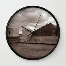 Abandoned Zone of Industry - Sicily - vacancy zine Wall Clock