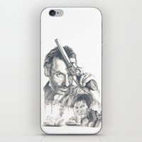 the walking dead iPhone & iPod Skins featuring Walking Dead by Heather Andrewski