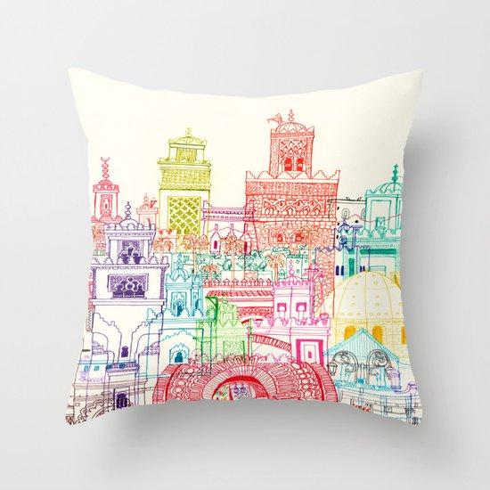 Marrakech Towers  Throw Pillow
