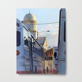 Alajuela Buses Metal Print