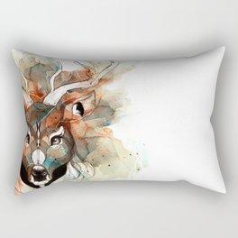 Deer- color brown Rectangular Pillow