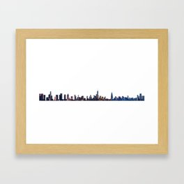 Skylines of New York, Chicago and Los Angeles Framed Art Print