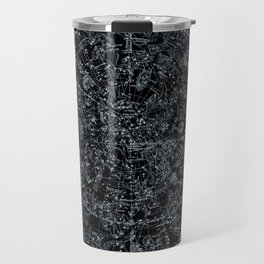 Constellations of Northern Hemisphere | White Ink on Black Archival Paper Travel Mug