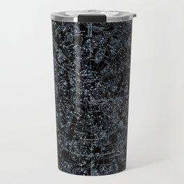Constellations of Northern Hemisphere | White Ink on Black Archival Paper Travel Mug