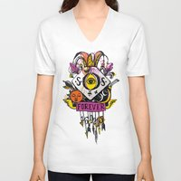 tatoo V-neck T-shirts featuring Forever. Tatoo by mayina