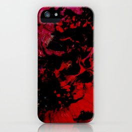 The dark red planet iPhone Case