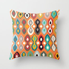 brocade orange peel Throw Pillow