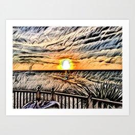 Puesta de Sol Tropical Art Print