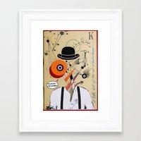 clockwork orange Framed Art Prints featuring orange clockwork by LouiJoverArt