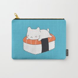 Kawaii Cute Sushi Cat Carry-All Pouch