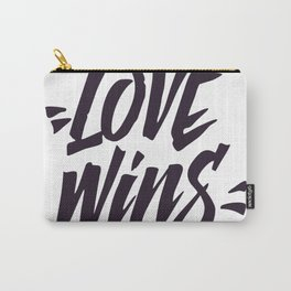 Love Wins Brush Lettering Carry-All Pouch