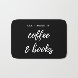 Coffee and Books Bath Mat