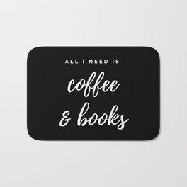 Coffee and Books Bath Mat