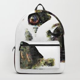 French Bulldog Art - High Contrast Painting by Sharon Cummings Backpack