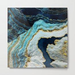 Aerial Ocean Abstract Metal Print