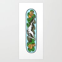 skateboard Art Prints featuring Skateboard by rayeliann