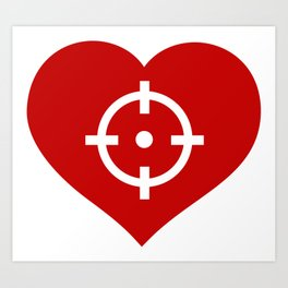 Heart as target Art Print