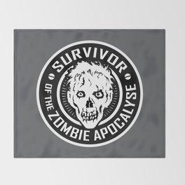 Survivor of the Zombie Apocalypse Throw Blanket