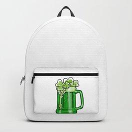 Flying Shamrocks Beer St Patrick's Drunk Day Backpack