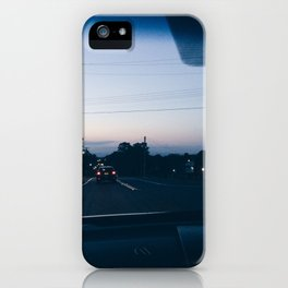 Driving into the sunset iPhone Case