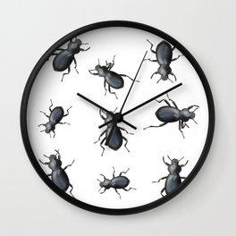 Black Beetles Wall Clock