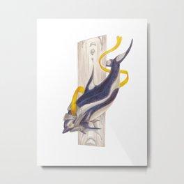 Celestial Dolphin: Endless Metal Print