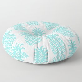 Retro Mid Century Modern Pineapple Pattern 731 Turquoise Floor Pillow