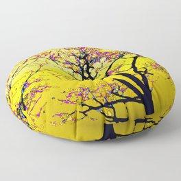 514 - Abstract Tree Sunset Design Floor Pillow