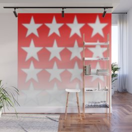 Red and White Stars, Faded Stars, Patriotic Wall Mural