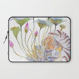 Nautilus and Lotus Surreal Watercolor Creature Laptop Sleeve
