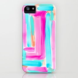 It's Your Life pastel color stripes modern art abstract painting lines pattern minimalist iPhone Case
