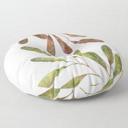 Earthy tones leaves: spring versus autumn Floor Pillow
