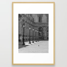 Lampposts in black and white Framed Art Print