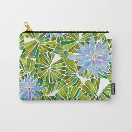 Water Lilies – Lavender & Green Palette Carry-All Pouch