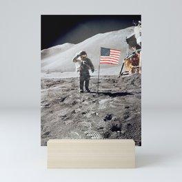 Apollo 15 - Dave Scott Military Salute Mini Art Print