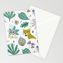Jaguar and Leaves Stationery Cards