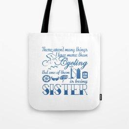 Cycling Sister Tote Bag
