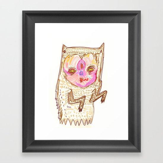 creepah ghost Framed Art Print
