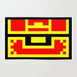 Treasure Chest, 8 bit like, gold, money, jewel, box Rug