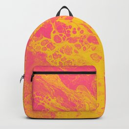 Pink and Yellow Marble - An Abstract Piece Backpack