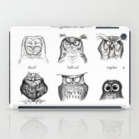 house iPad Cases featuring Caffeinated Owls by Dave Mottram