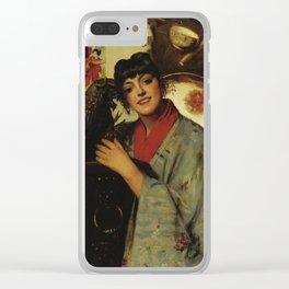 Léon Herbo 1850-1907 LA JAPONAISE Clear iPhone Case