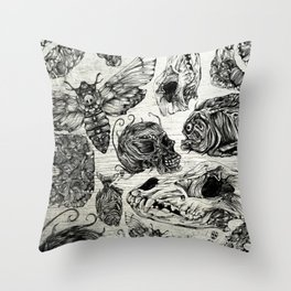Bones and Co Throw Pillow