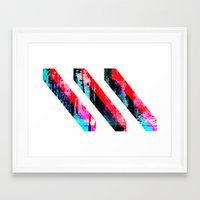 prism Framed Art Prints featuring PRISM³ by DREW WISE