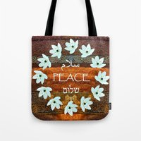 palestine Tote Bags featuring Circle of Stars by Khana's Web