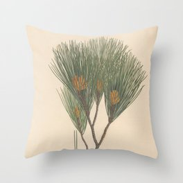 Botanical Pine Throw Pillow