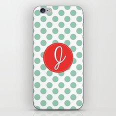 Monogram Initial J Polka Dot iPhone & iPod Skin