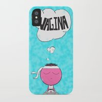 vagina iPhone & iPod Cases featuring ...Vagina... by Daniel Belay