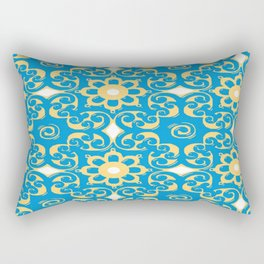 Blue Yellow Boulevard Rectangular Pillow