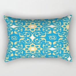 Blue Yellow Boulevard Rectangular Pillow